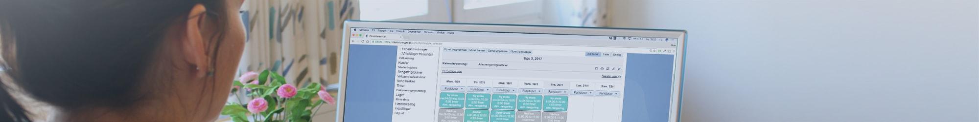 Funktioner i CleanManager på computerskærm