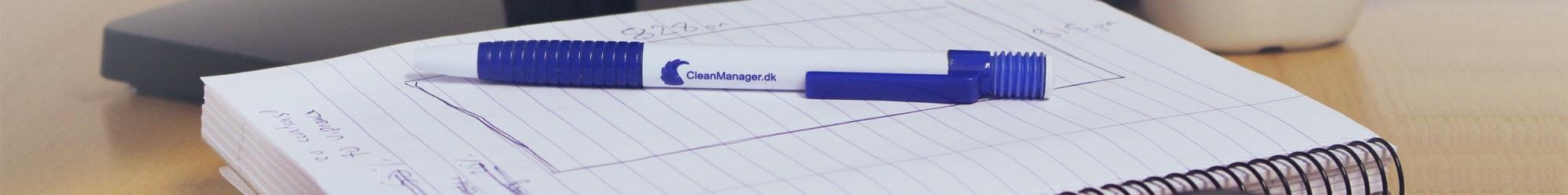 CleanManager logo på kuglepen