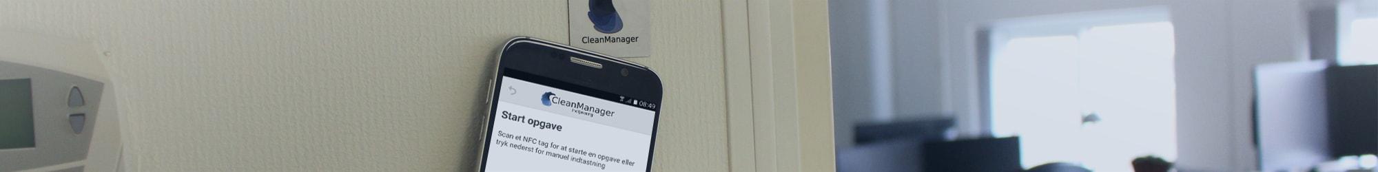 Smartphone komme-gå-registrering indtjekning med NFC tag